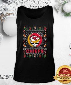 Kansas City Chiefs Grateful Dead Christmas Ugly Tank Top - Design By Girltshirt.com