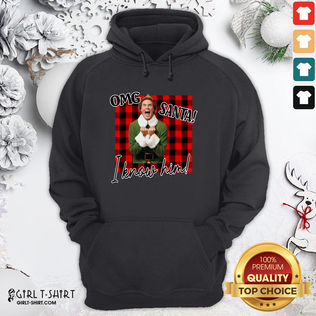 Premium Plaid Buddy The Elf OMG Santa I Know Him Hoodie - Design By Girltshirt.com