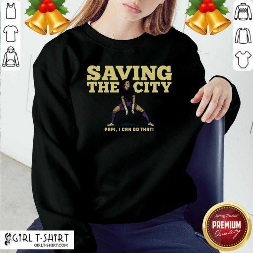 Rodrigo Schlegel Saving the City Sweatshirt - Design By Girltshirt.com
