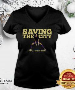 Rodrigo Schlegel Saving the City V-neck - Design By Girltshirt.com