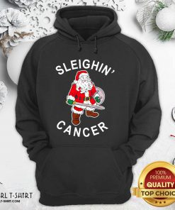 Sleighin Cancer Santa Christmas Hoodie- Design By Girltshirt.com