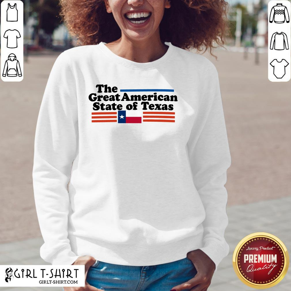 Premium The Great American State Of Texas V-neck - Design By Girltshirt.com