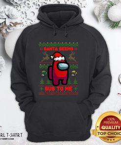 Short Santa Seems Sus To Me Ugly Christmas Hoodie - Design By Girltshirt.com