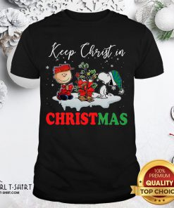 Snoopy And Charlie Brown Keep Christ In Christmas 2020 Shirt - Design By Girltshirt.com