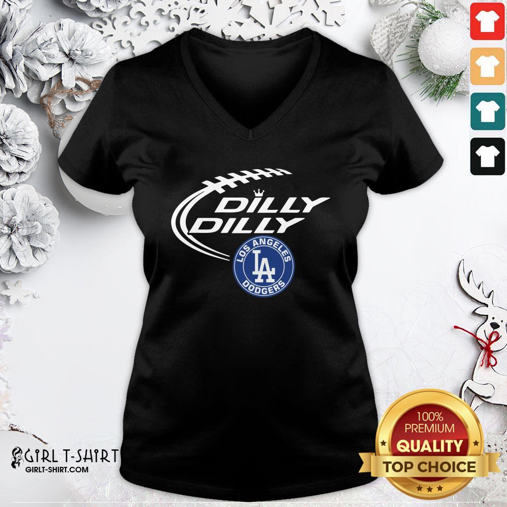 Such Los Angeles Dodgers Dilly Dilly V-neck - Design By Girltshirt.com