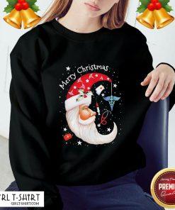 The Moon Santa Nurse Happy Merry Christmas Sweatshirt - Design By Girltshirt.com