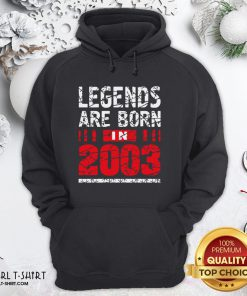 Thunder Legends Are Born In 2003 Hoodie - Design By Girltshirt.com