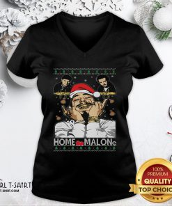 Town Home Malone Ugly Christmas 2021 V-neck - Design By Girltshirt.com