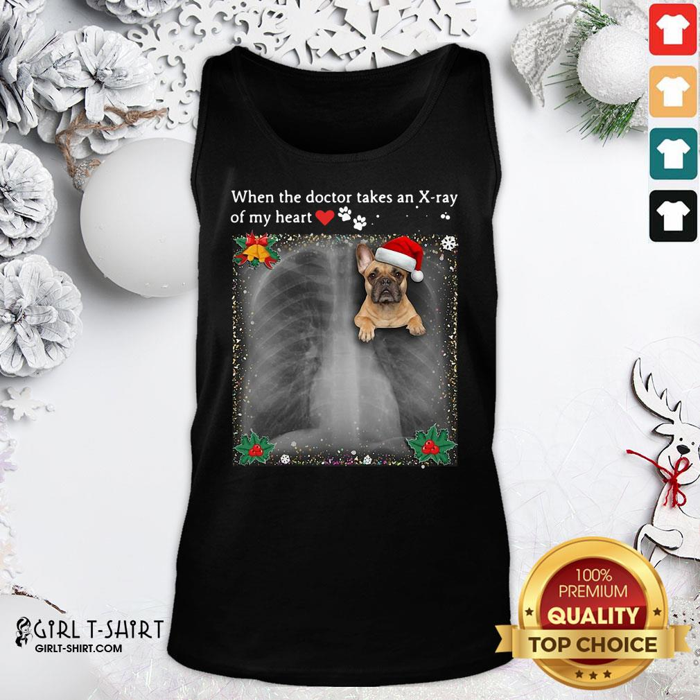 Windy When The Doctor Takes An Xray Of My Heart French Bulldog Tank Top- Design By Girltshirt.com