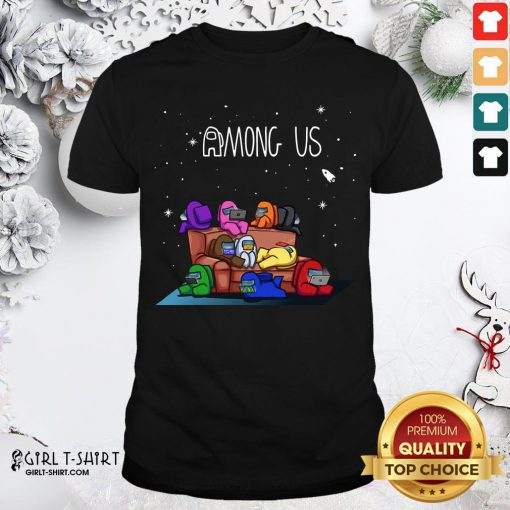 Yellow Among Us The Space Galaxy Finding Impostor Shirt- Design By Girltshirt.com