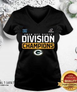 Awesome 2020 NFC North Division Champion Green Bay Packers V-neck- Design By Girltshirt.com