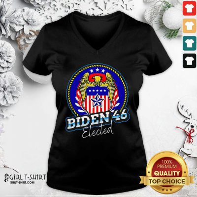 Biden 46 Elected 46Th President V-neck - Design By Girltshirt.com