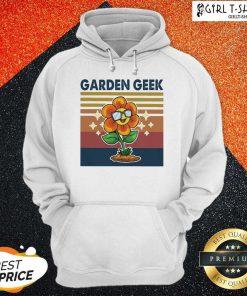Garden Geek Sun Flower Happily Vintage Hoodie- Design By Girltshirt.com