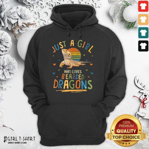 Just A Girl Who Loves Bearded Dragons Hoodie- Design By Girltshirt.com