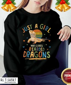 Just A Girl Who Loves Bearded Dragons Sweatshirt- Design By Girltshirt.com