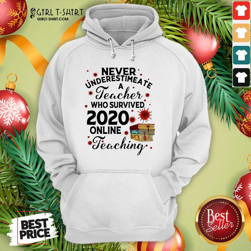 Never Underestimate A Teacher Who Survived 2020 Online Teaching Hoodie - Design By Girltshirt.com