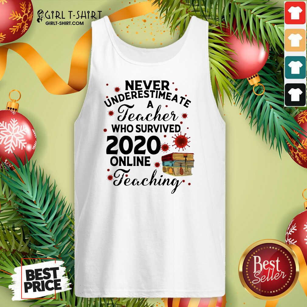 Never Underestimate A Teacher Who Survived 2020 Online Tank Top - Design By Girltshirt.com