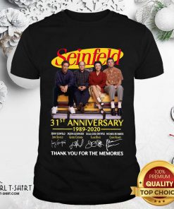 Seinfeld 31st Anniversary 1989 2020 Thank You For The Memories Signatures Shirt- Design By Girltshirt.com