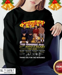Seinfeld 31st Anniversary 1989 2020 Thank You For The Memories Signatures Sweatshirt- Design By Girltshirt.com