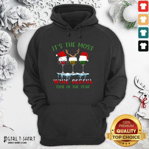 Its The Most Wine Derful Time Of The Year Merry Christmas Light Hoodie - Design By Girltshirt.com
