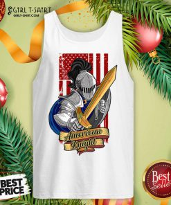 Knights Lover American Knight With Sword And Flag Tank Top - Design By Girltshirt.com