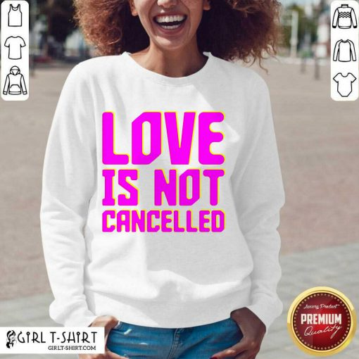 Lisa Power love Is Not Cancelled V-neck - Design By Girltshirt.com