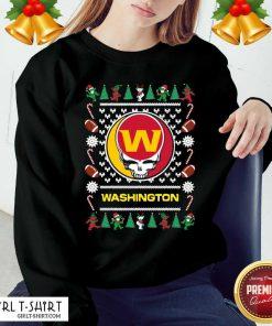Washington Football Team Grateful Dead Ugly Christmas Sweatshirt- Design By Girltshirt.com