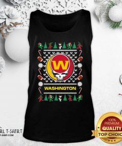 Washington Football Team Grateful Dead Ugly Christmas Tank Top- Design By Girltshirt.com