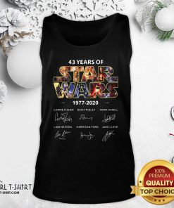 43 Years Of Star Wars 1977 2020 Signatures Tank Top - Design By Girltshirt.com