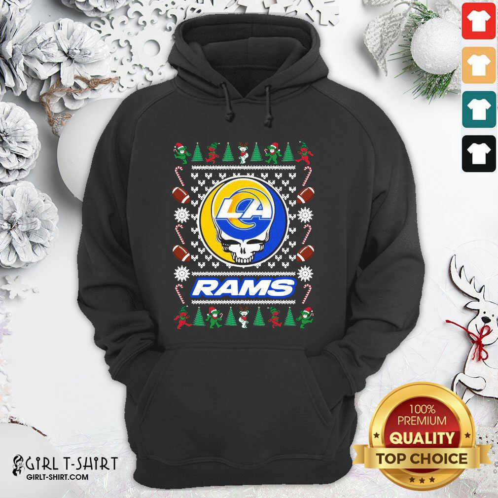 Los Angeles Rams Grateful Dead Ugly Christmas Hoodie - Design By Girltshirt.com