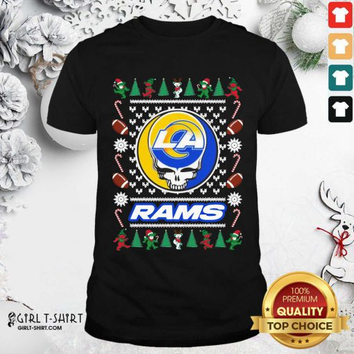 Los Angeles Rams Grateful Dead Ugly Christmas Shirt - Design By Girltshirt.com