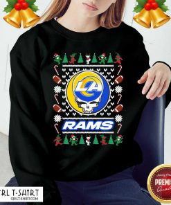 Los Angeles Rams Grateful Dead Ugly Christmas Sweatshirt - Design By Girltshirt.com