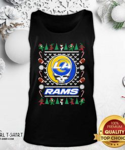 Los Angeles Rams Grateful Dead Ugly Christmas Tank Top - Design By Girltshirt.com
