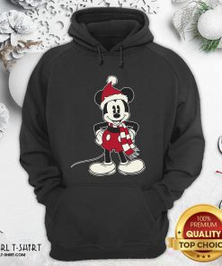 Mickey Mouse Santa Hat Merry Christmas Hoodie - Design By Girltshirt.com