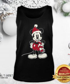 Mickey Mouse Santa Hat Merry Christmas Tank Top - Design By Girltshirt.com