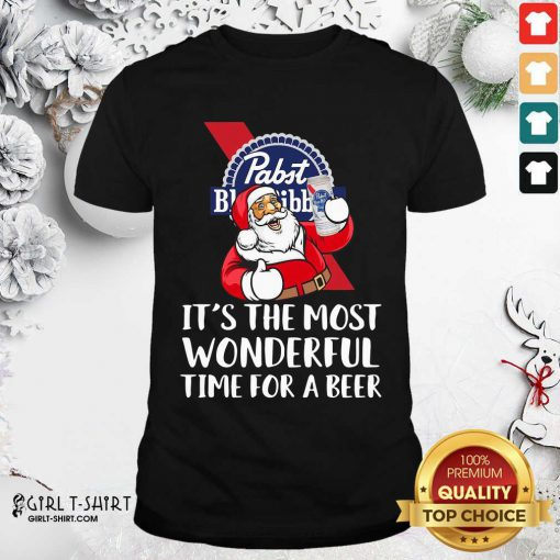 Pabst Blue Ribbon It's The Most Wonderful Time For A Beer Shirt- Design By Girltshirt.com