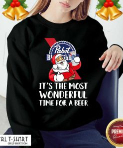 Pabst Blue Ribbon It's The Most Wonderful Time For A Beer Sweatshirt - Design By Girltshirt.com