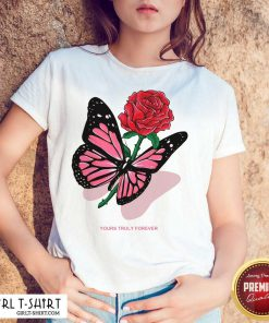 Phora Merch Butterfly Love Song Pink Shirt - Design By Girltshirt.com