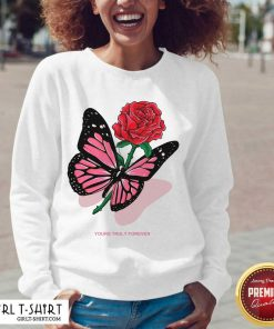 Phora Merch Butterfly Love Song Pink V-neck- Design By Girltshirt.com