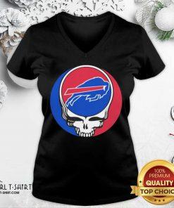 Grateful Dead Buffalo Bills V-neck- Design By Girltshirt.com