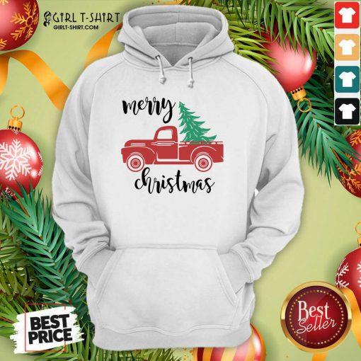 Merry Christmas Truck Christmas Hoodie - Design By Girltshirt.com