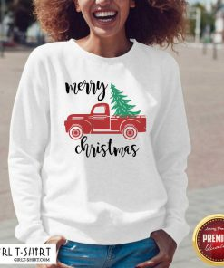 Cool Merry Christmas Truck Christmas V-neck - Design By Girltshirt.com