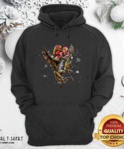 Santa Claus Riding Dragon Christmas Hoodie - Design By Girltshirt.com