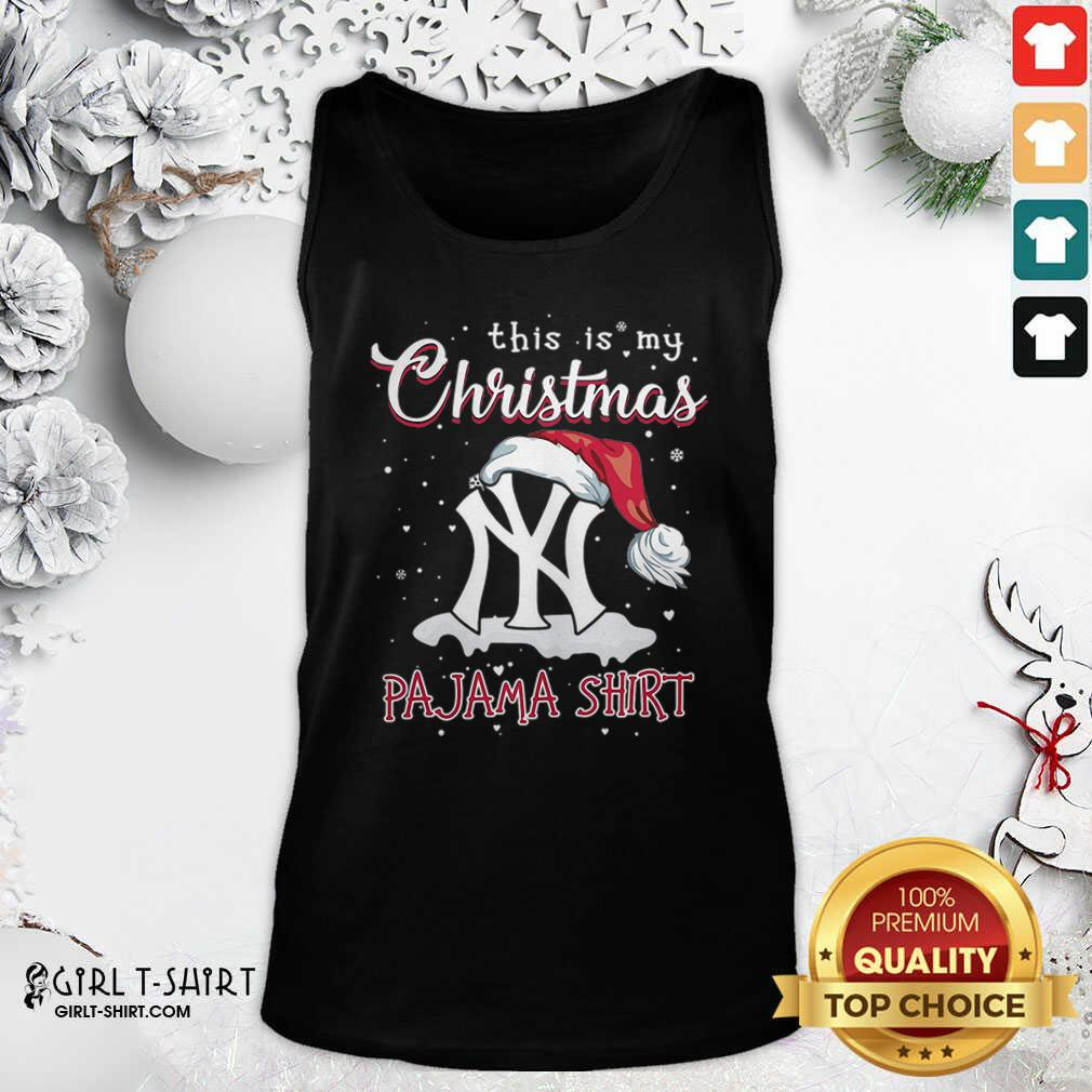 This is My Christmas Pajama New York Yankees Tank Top - Design By Girltshirt.com