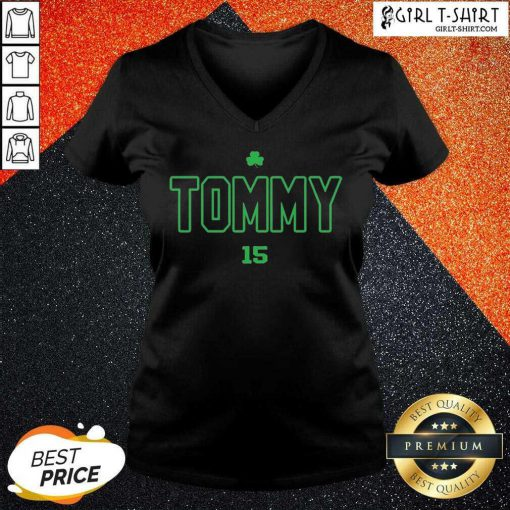 Tommy Tribute 15 V-neck - Design By Girltshirt.com