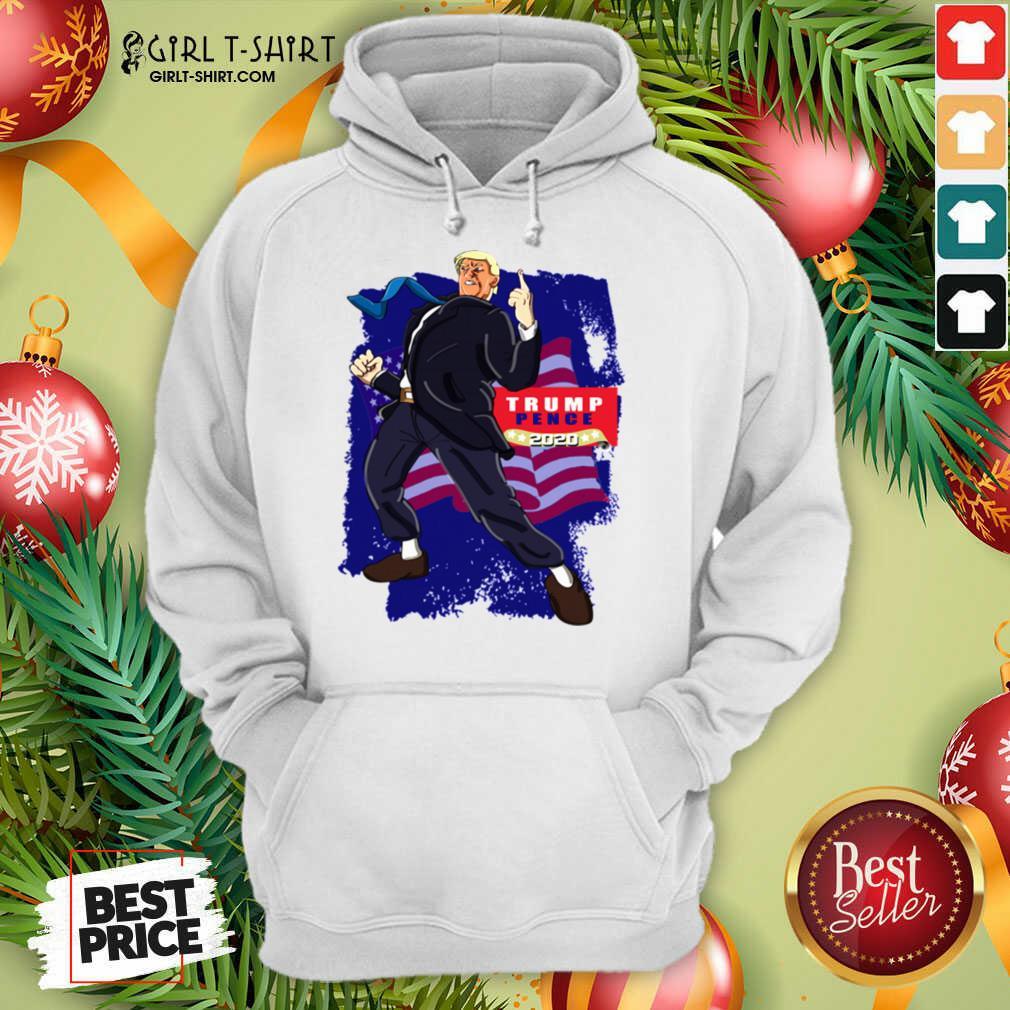 Trump Pence 2020 American Flag Hoodie- Design By Girltshirt.com