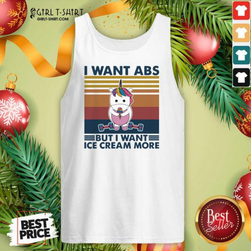 Unicorn I Want Abs But Want Ice Cream More Vintage Tank Top - Design By Girltshirt.com
