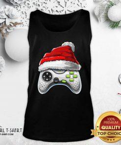 Video Game Controller Santa Hat Christmas Tank Top - Design By Girltshirt.com