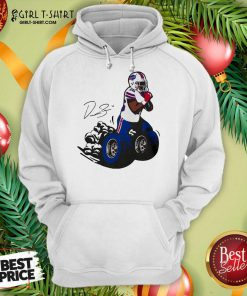 Buffalo Bills Fan Box Devin Singletary Motor Signature Hoodie- Design By Girltshirt.com