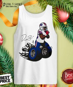 Buffalo Bills Fan Box Devin Singletary Motor Signature Tank Top- Design By Girltshirt.com